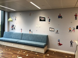 Zoom stories wall brand experience