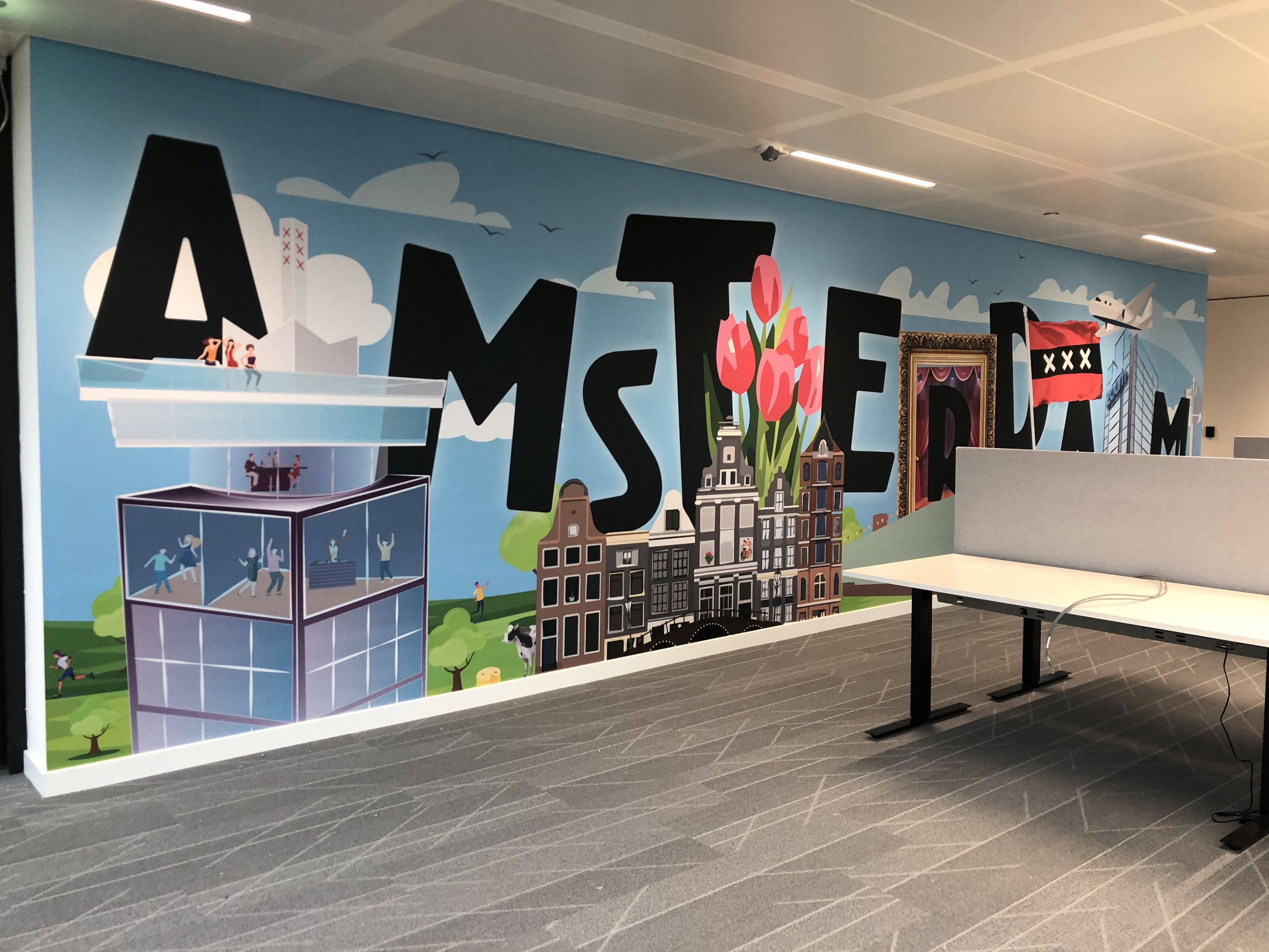 Amsterdam mural Zoom offices brand experience