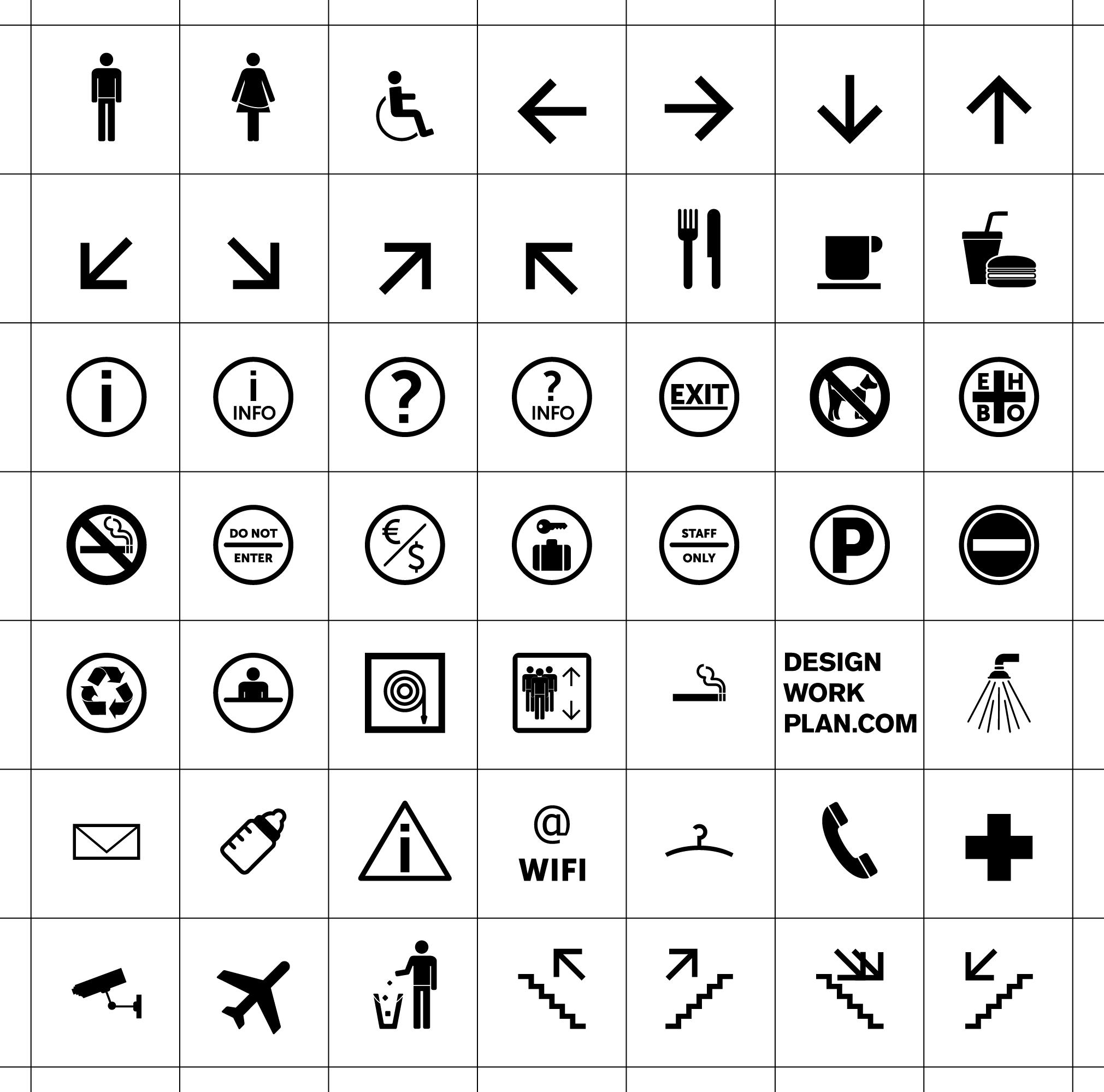 Symbolen en pictogrammen