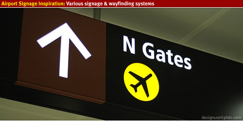 Airport signage and wayfinding inspiration