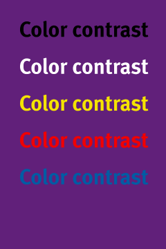 contrast-purple Purple will
