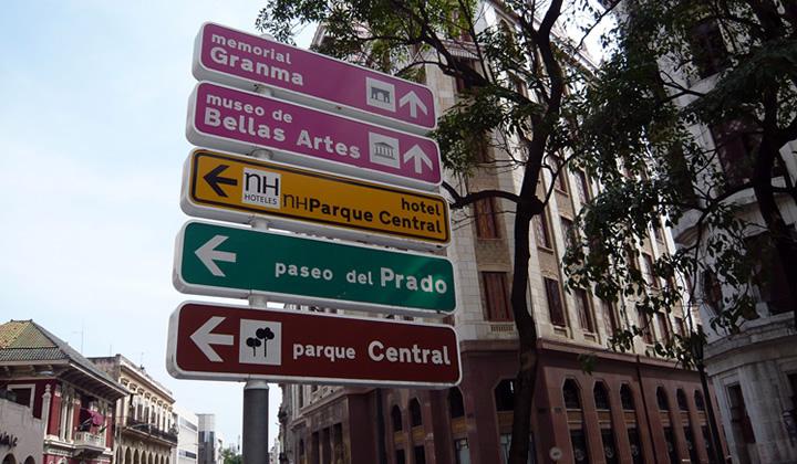 More examples city wayfinding for Havana