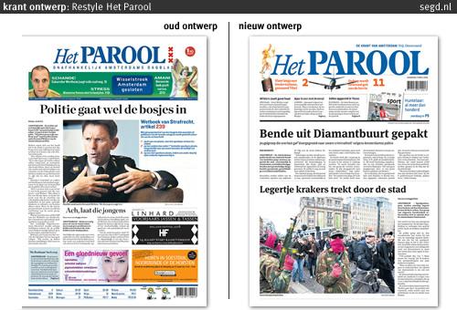 oude en nieuwe layout Het Parool