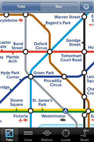 iPhone London tube subway wayfinding