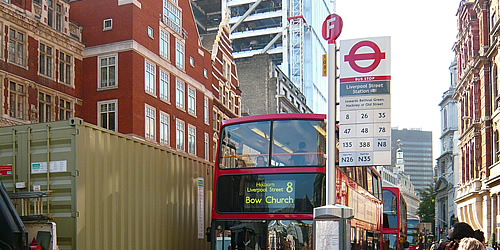 London busstop TfL