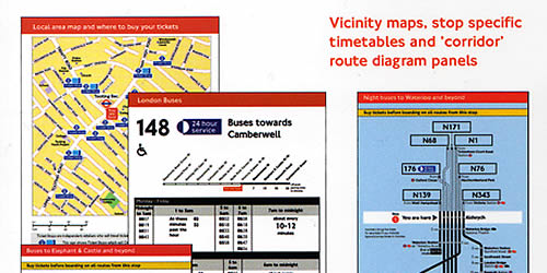 London maps busstop TfL
