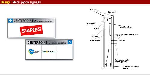 Metal Landmark Signage Designworkplan Wayfinding Design