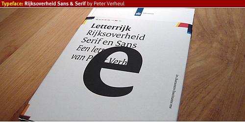 Letterijk the creation of Rijksoverheid Sans Serif