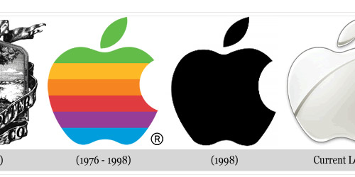 the first apple logo looks