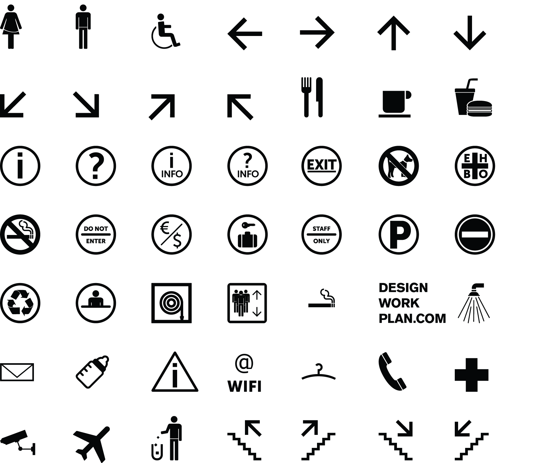 Free tool symbol signs collection designworkplan wayfinding design symbol signs buycottarizona Gallery