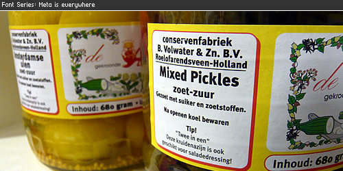 FF Meta is everywhere: Mixed Pickels